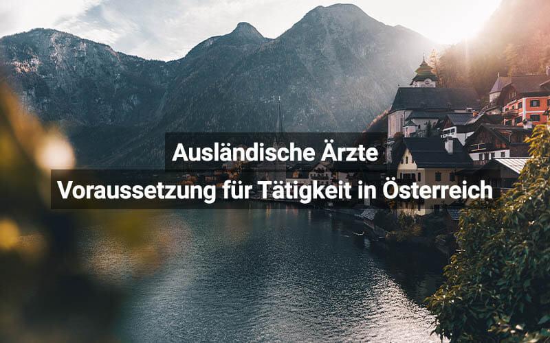 Ausländische Ärzte In Österreich